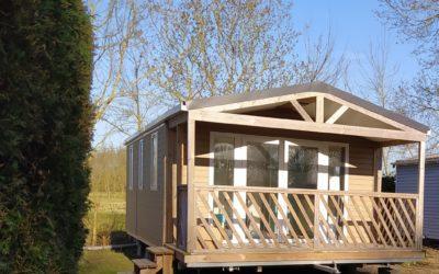 Nouveauté sur le camping: un mobil home IRM LOGGIA BAY